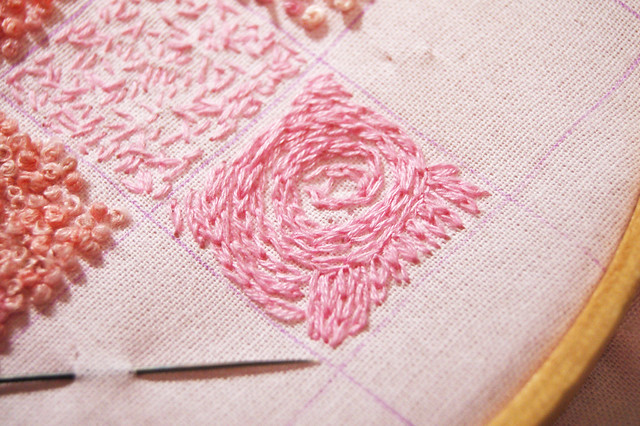 Chain Stitch by iHanna on an Inchie Swirly #embroidery made by iHanna