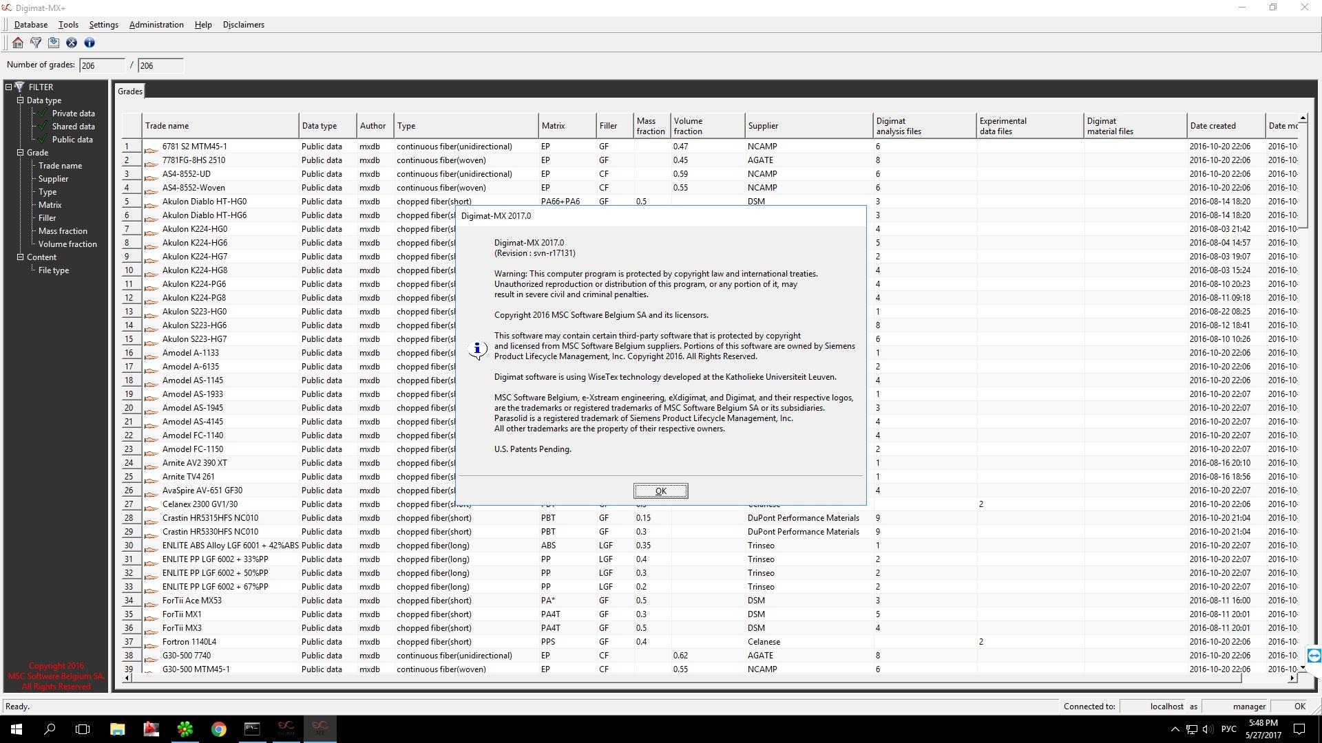Process with MSC (ex e-Xstream) Digimat 2017 full