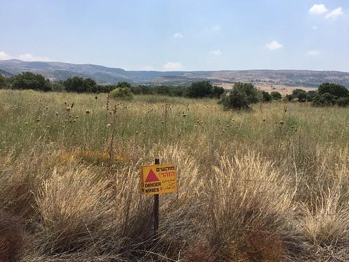 Danger - Mines! Golan Heights