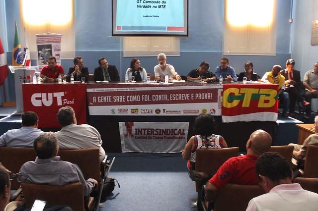 Segunda audiência pública do grupo de trabalho que investiga os processos de perseguição política no Ministério do Trabalho - Créditos: Daiane Coelho / Frente Brasil Popular