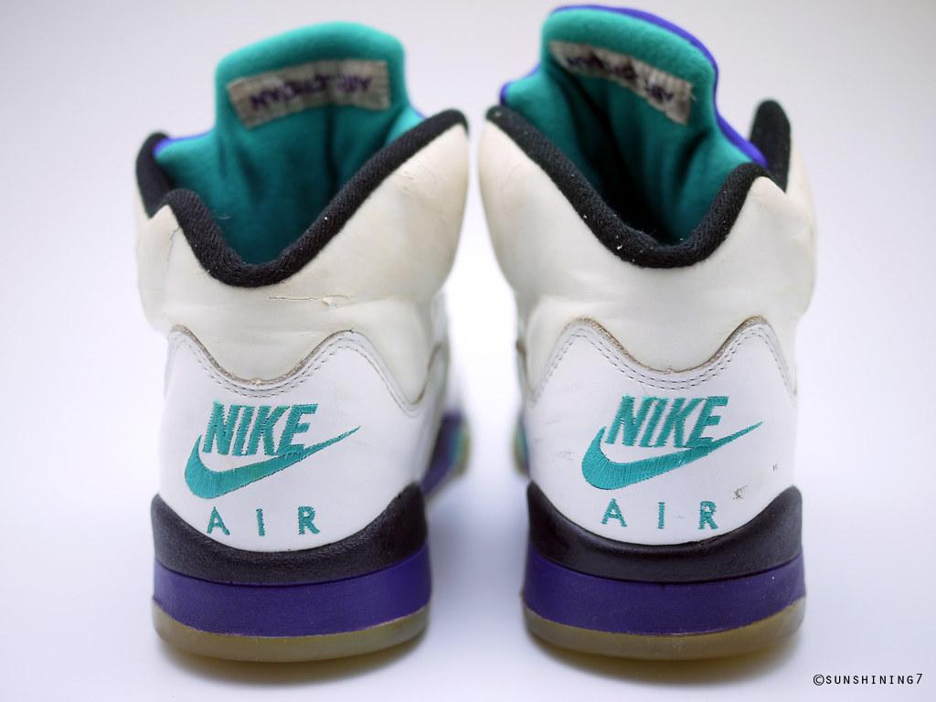 99ff57f9444 ... Sunshining7 - Nike Air Jordan V (5) - OG 1990 - White Purple Emerald ...