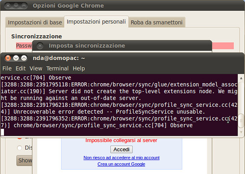 Chrome 6.0.437.3 dev su Linux: niente sincronizzazione delle estensioni?