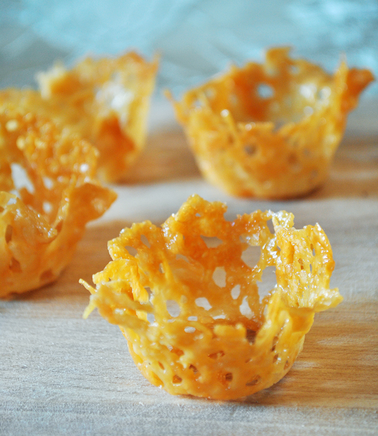 Parmesan cups make for simple canapes duhlicious for How to make canape shells