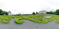 Garden of the castle of Auvers-sur-Oise