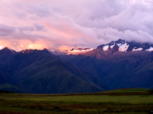 sunset mountain snow peru southamerica grass clouds sacredvalley moray 60225mm