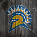 San Jose State Spartans Logo Wood iPhone 4 Background by anonymous6237
