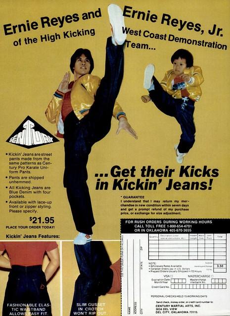 1981 Kicking Jeans Ernie Reyes