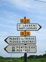 Breton road signs