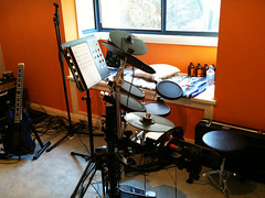 room, studio, drums, drum, recording,