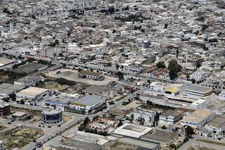 Vue aérienne de la ville Le Kram-Ouest