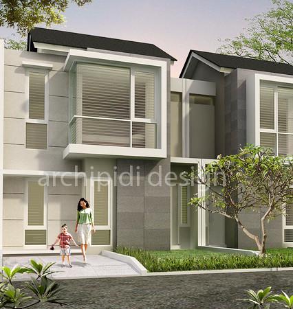 %jasa arsitek desain rumah minimalis Desain Townhouse Minimalis Modern