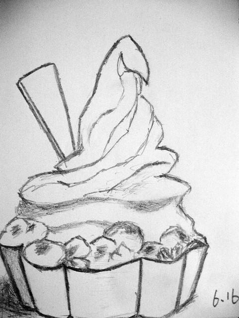 酸奶桶手绘图片