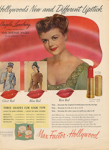 1947 Angela Lansbury by Max Factor Museum
