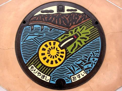 Moriyama,Shiga manhole cover(滋賀県守山市のマンホール)