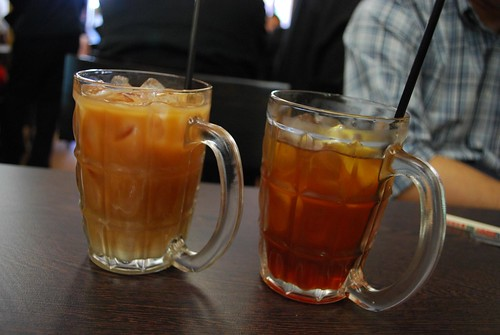 Iced Milk Tea and Iced Lemon Tea - Chilli Cafe - complimentary