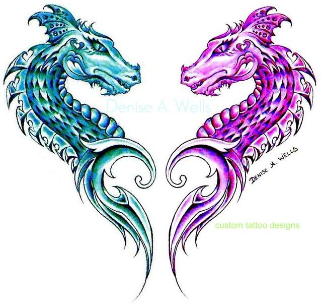 Dragon Heart Tattoo Designs