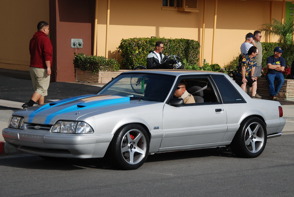 Ford Mustang 5 0 Lx Foxbody Coupe With 03 04 Svt Cobra Wheels A