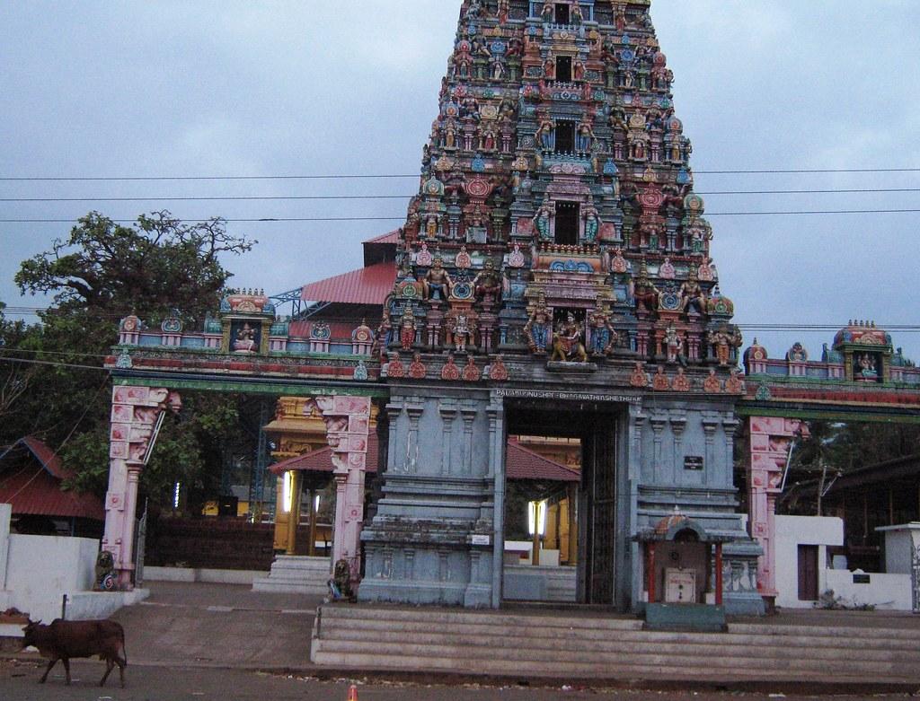 Bhagavathi Temple, Pallikkunnu, Kasargod, Kerala, India.
