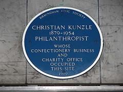 Photo of Christian Kunzle blue plaque