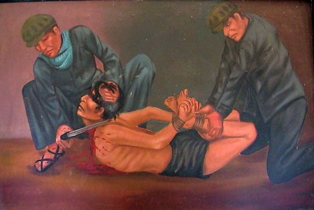 Painting by Vann Nath, one of only seven Tuol Sleng survivors