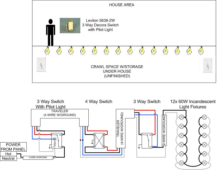 3-way W  Pilot Light Wiring Question