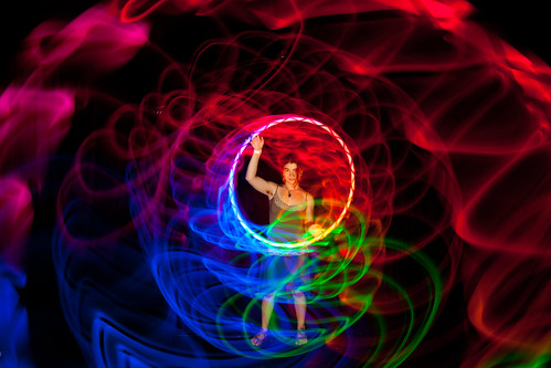 Lighted Hula-Hoop Dancer Light Painted