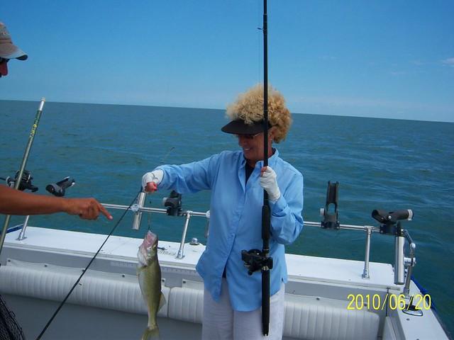 Walleye fishing near luna pier mi flickr photo sharing for Lake erie pier fishing
