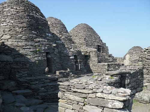 Monastery buildings skellig michael