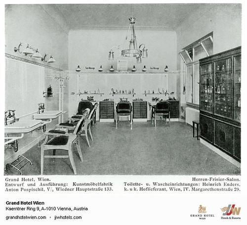 Historic Photo - Old Herren Frisiersalon at Grand Hotel Wien in Vienna