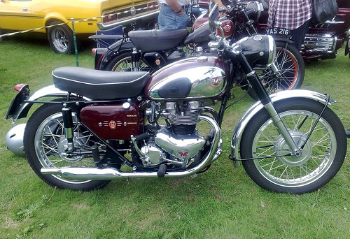 1960 Matchless CSR 650 Cannon Hall Car Motorcycle Rally Barnsley Yorkshire