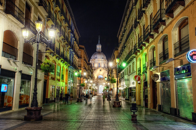 Street – Calle de Alfonso I, Zaragoza (Spain), HDR