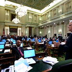 Premier Gordon Campbell addresses California State Assembly