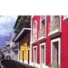 Colorful buildings on street in San Juan, P.R.