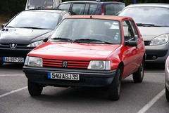 automobile, peugeot, supermini, vehicle, city car, peugeot 205, land vehicle, hatchback,