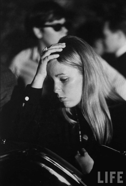 campaign worker for Robert F. Kennedy in shock after his assassination, by Bill Eppridge 1968