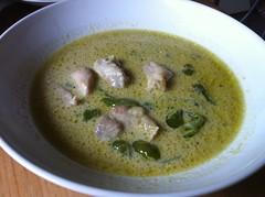 vegetarian food(0.0), cream of mushroom soup(0.0), produce(0.0), curry(1.0), food(1.0), leek soup(1.0), dish(1.0), soup(1.0), cuisine(1.0),