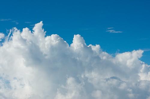 入道雲を見下ろす