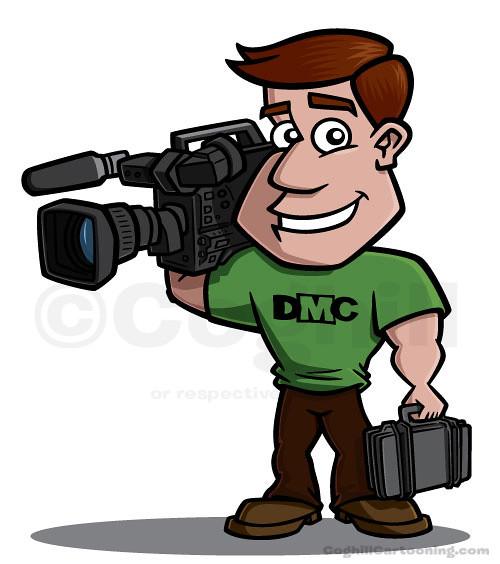Videographer Cartoon Character