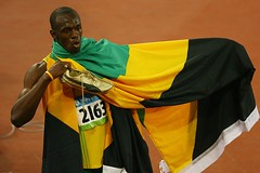 Usain Bolt at the 2008 Olympics
