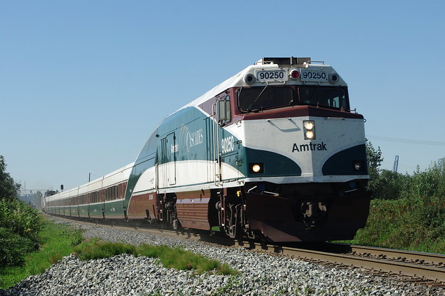 Amtrak Cascades #510 approaching  New Westminster, BC.