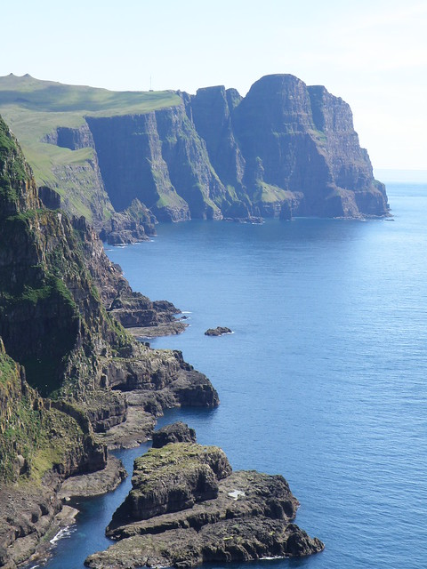 Cliffs of Suduroy - Faroe Islands - View towards Beinisvørð