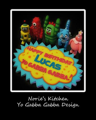 birthday cake caketopper yogabbagabba