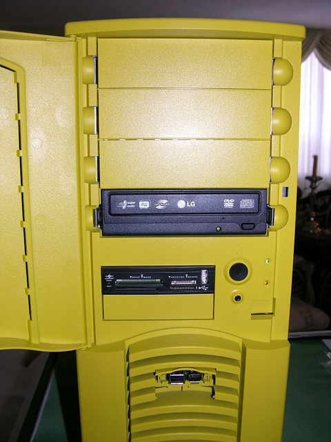 Front of a completed case