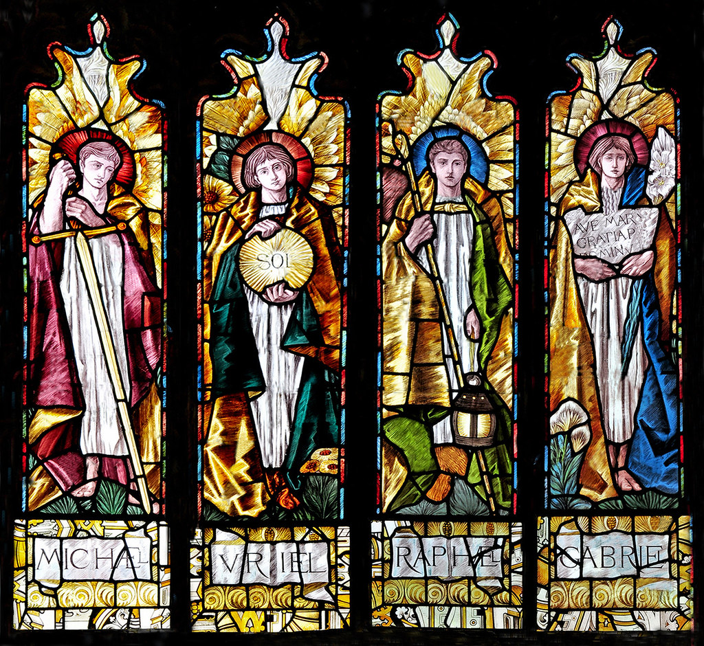 The Four Arch Angels South Window St Mary Magdalene