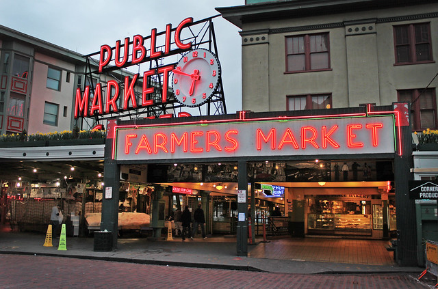 Pike Place Market - Seattle, Washington U.S.A. - March 14, 2011