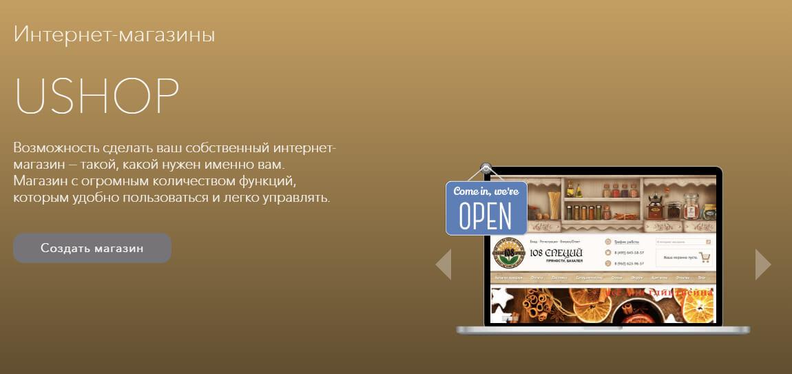 Online website Builder Ucoz – time professionals