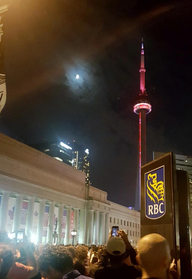 Toronto Fireworks CN Tower