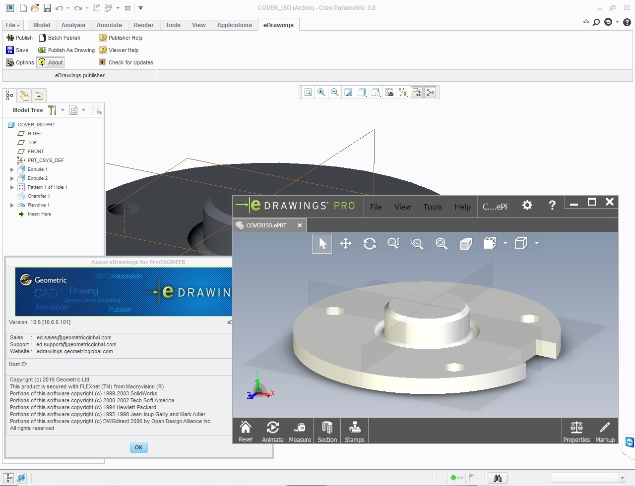 eDrawings Pro 2017 Suite for CREO 4.0