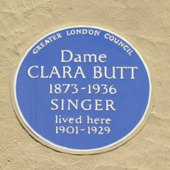 Photo of Clara Butt blue plaque