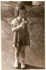 1955 me with an ice cream